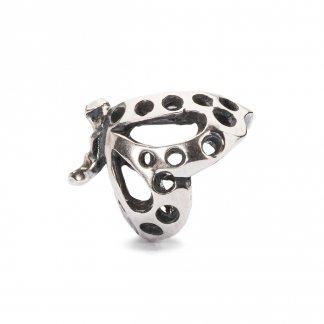 Dancing Butterfly Silver Bead