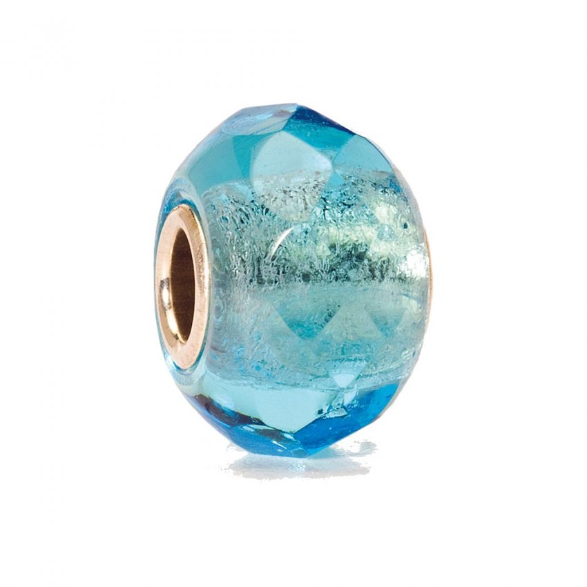 Trollbeads Glass Light Turquoise Prism Bead 60192