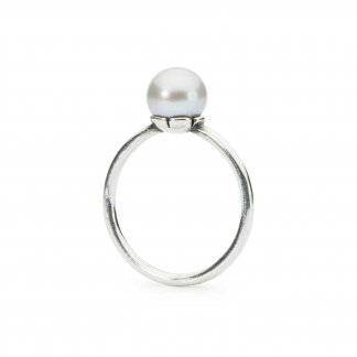 Grey Pearl Ring - UK Size M