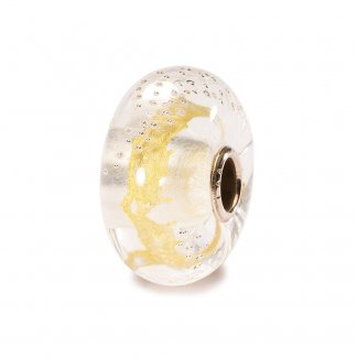 Murano Glass Gold Silver Trace Bead