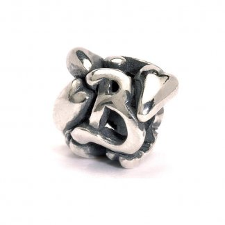 Sterling Silver Initial B Bead