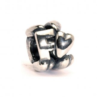 Sterling Silver Initial F Bead
