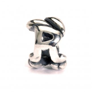 Sterling Silver Initial R Bead
