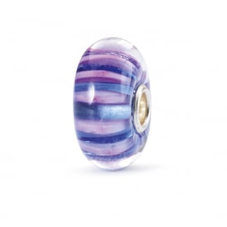 Violet Stripe Glass Bead TGLBE-10327
