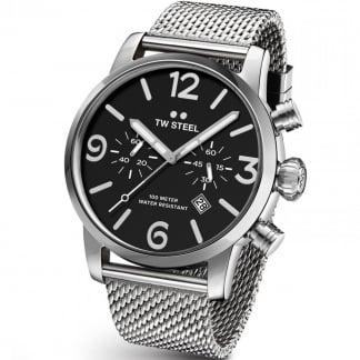 Men's Maverick 45MM Steel Mesh Chronograph Watch MB13
