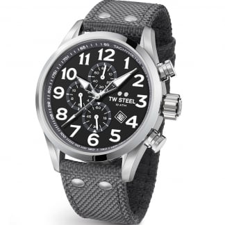 Men's Volante 45MM Grey Canvas Chronograph Watch