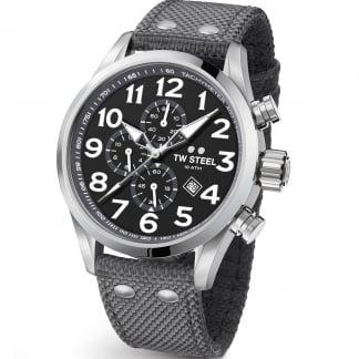 Men's Volante 45MM Grey Canvas Chronograph Watch VS13