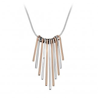 Two Tone Icicle Statement Necklace DN097