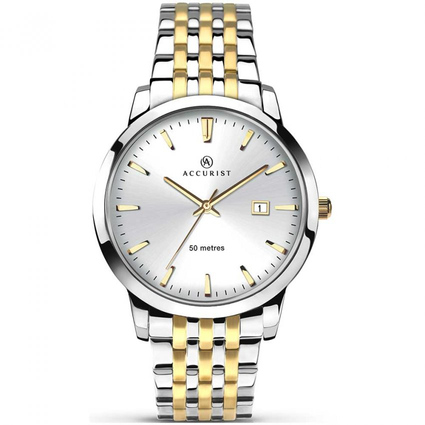 Accurist Men's Classic Two Tone Quartz Watch 7018