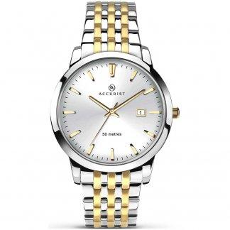 Men's Classic Two Tone Quartz Watch 7018