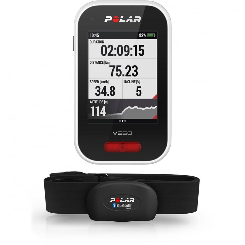Polar V650 Smart GPS Cycling Computer With HRM 90050536