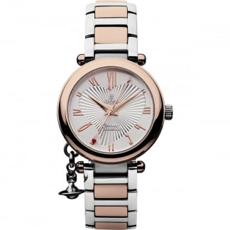 Ladies Heart Dial Orb Watch