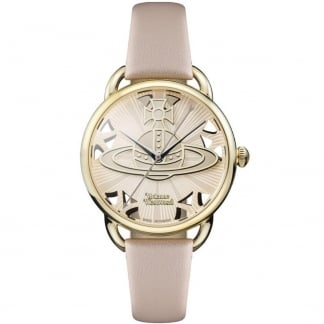 Ladies Leadenhall Pink Leather Swiss Quartz Watch