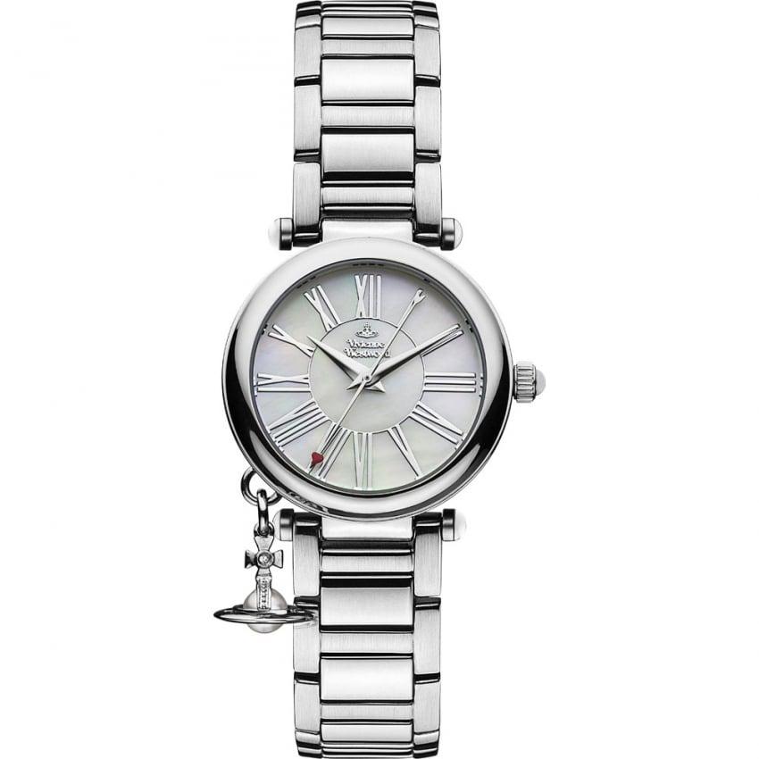 Vivienne Westwood Ladies Mother Orb Silver Bracelet Watch VV006PSLSL