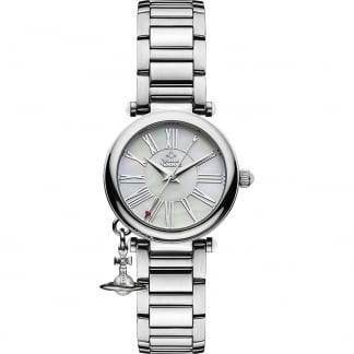 Ladies Mother Orb Silver Bracelet Watch