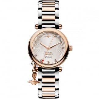 Ladies Orb Diamond Set Two Tone Watch