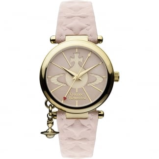 Ladies Orb II Pink Leather Strap Watch