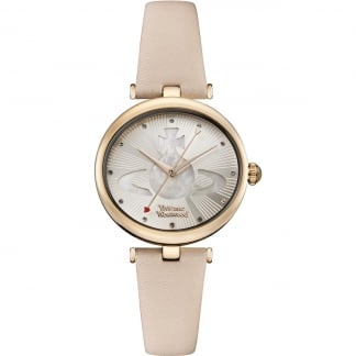 Ladies Belgravia Rose Gold/MoP Dial Leather Watch