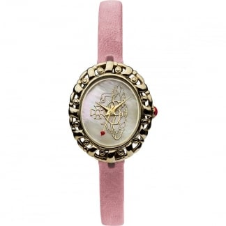 Ladies Skinny Pink Strap Rococo Watch