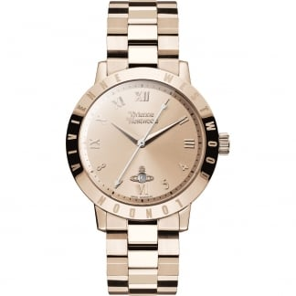 Ladies Swiss Rose Gold Bloomsbury Watch
