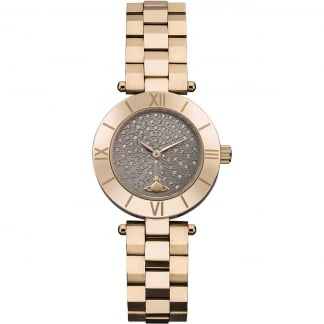 Ladies Westbourne Rose Gold Stone Set Dial Watch