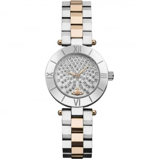 Ladies Westbourne Two Tone Stone Dial Watch