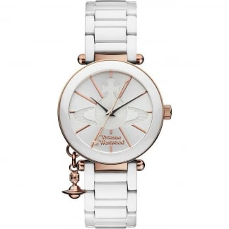 Ladies White Ceramic Kensington II Watch