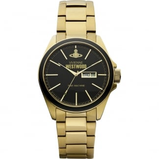 Men's Camden Lock Gold PVD Day/Date Watch VV063GD