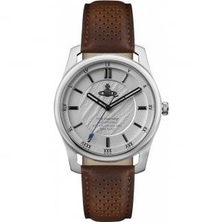 Men's Holborn II Grey/Brown Leather Watch