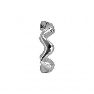Wave Silver Charm
