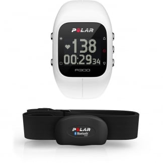 White A300 Bluetooth® Activity Tracker With HRM