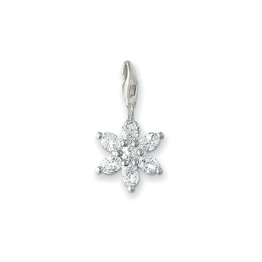 0380 051 14 White Flower Charm By Thomas Sabo Francis Gaye Jewellers