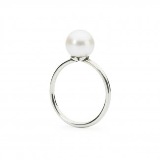 White Pearl Ring - UK Size M