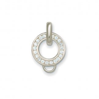 White Zirconia Charm Carrier