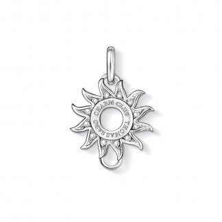 White Zirconia Sun Charm Carrier X0177-051-14