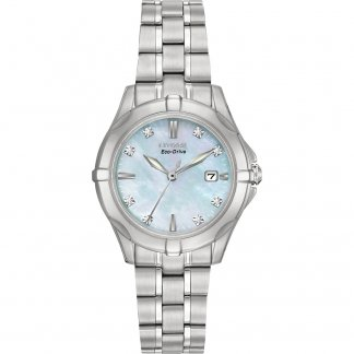 Women's 8 Diamond Slim Silhouette Watch
