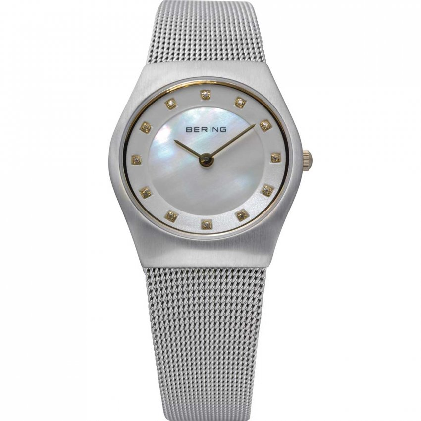Bering Ladies Classic Swarovski Mother of Pearl Dial Watch 11927-004