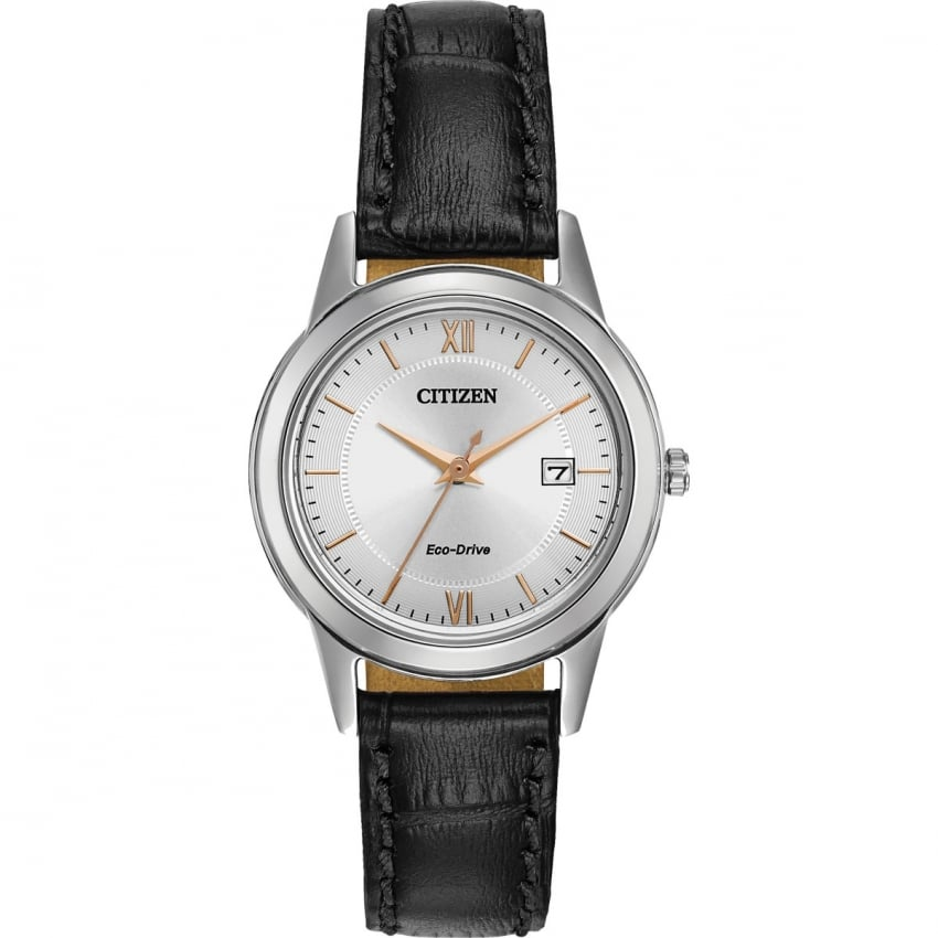 Citizen Women's Black Strap Classic Eco-Drive Watch FE1086-04A