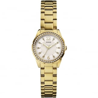 Women's Crystal Set Gold Desire Watch