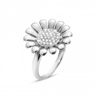 Diamond Set Large Sunflower Ring (Size N) 3560408