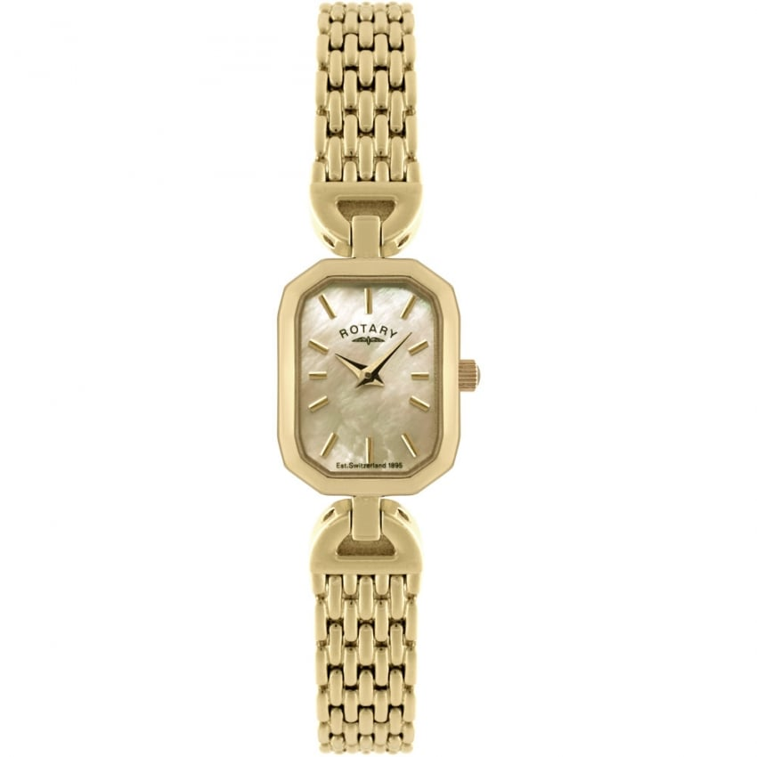 Rotary Women's Gold Mother of Pearl Dress Watch LB02832/40