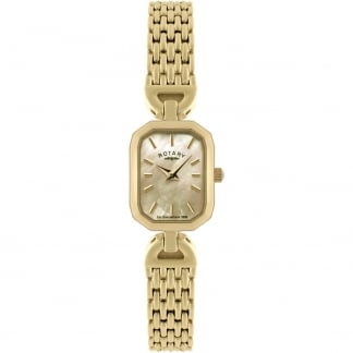 Women's Gold Mother of Pearl Dress Watch