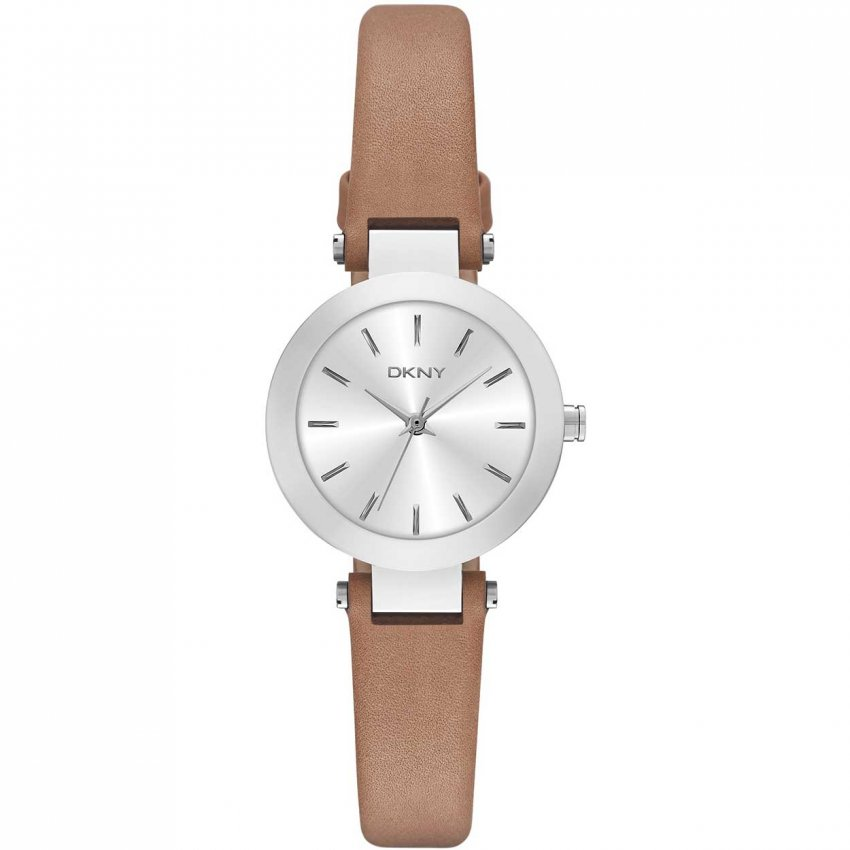 dkny s stanhope brown leather watches