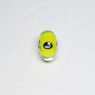 Yellow Yin Yang Unique Bead UNIQUE156